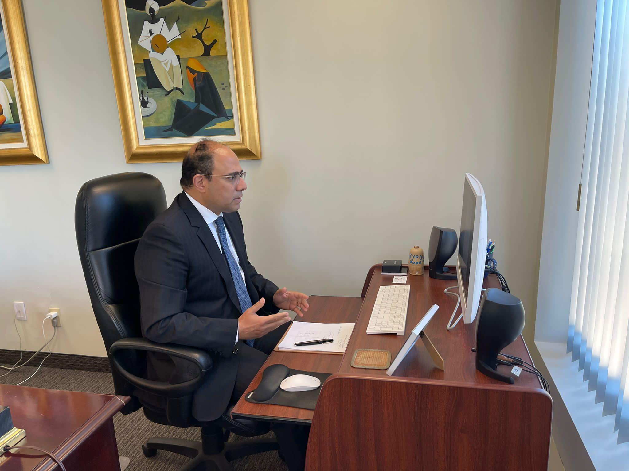 سفير مصر فى كندا في لقاءات مع أعضاء البرلمان الكندى بشأن سد النهضة