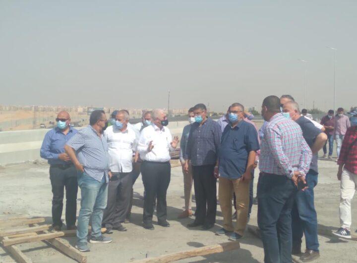 مسئولوا الإسكان والمقاولون العرب يتفقدون مشروع تقاطع 8 كوبري/ نفق بمدينة 6 أكتوبر