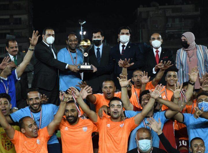 وزير الرياضة يشهد نهائي كأس مصر للميني فوتبول