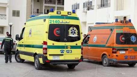 إصابة 8 أشخاص إثر تعرضهم لحادث تصادم بالطريق الزراعي بالمنيا